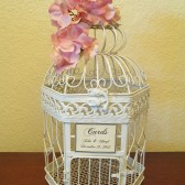 Shabby Chic Bird Cage Wedding Card Holder