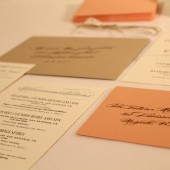 Romantic Script Wedding Invitation