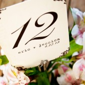 Rounded Corner Table Number