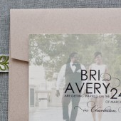 Elegant Photo Wedding Save The Date - Bri and Avery