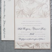 Blush Pink Taupe Wedding Invitation Suite - Garden Wedding  - Custom Colors - Heidi and Clarence