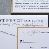 Formal Gatsby Inspired Pocket Wedding Invitation - Black and Gold - Kerry and Ralph
