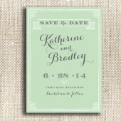 Vintage Style / Printable Save the Date