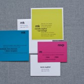 Bold, Bright and Modern Wedding Invitation Suite -Michelle and Karl