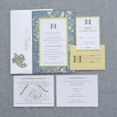 Fancy Paisley Portable Pocket Wedding Invitation Suite - Susan and Jonathan
