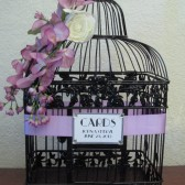 Birdcage Wedding Card Holder / Wisteria / Black / Spring Inspired / Wedding Card Box