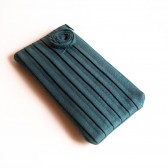 Bridesmaid Clutch Pleated Wedding Bridal clutch, purse, bag, Blue grey Rose, Pouch, Purse by Lolos