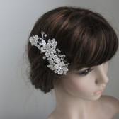 Irene crystal and silver flower hair comb, bridal fascinator,wedding fascinator