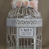 Art Deco Wedding Card Box / Pearls / Bird Cage Wedding Card Holder