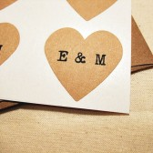 Custom Initials Wedding Heart Invitation Seals