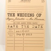 Book the Date- Save the Date Card