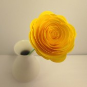 Paper Flowers // Custom Handmade Paper Roses Yellow