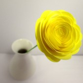Paper Flowers // Custom Handmade Paper Roses Light Yellow