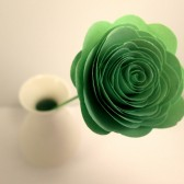 Custom Handmade Paper Roses Light Green
