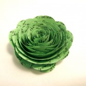 Custom Valentine Handmade Paper Roses Light Green