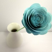 Custom Handmade Paper Roses Light Blue