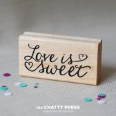 Love Is sweet Tag Stamp