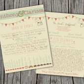 Wedding Program - Rustic, Vintage