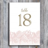 Peony Lace Table Numbers