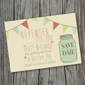 Wedding Save the Date - Vintage