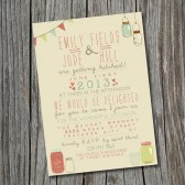 Wedding Invitation - Vintage, Rustic