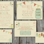 Wedding Invitation Suite - Rustic, Vintage