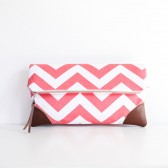 Sydney Clutch in Coral