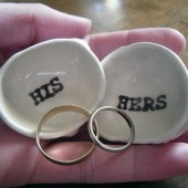 His/Hers Wedding Ring Pillows