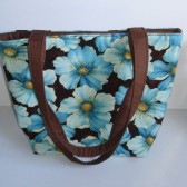 Blue Floral Tote