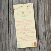 Wedding Menu - Rustic, Vintage