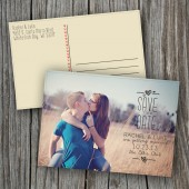 Wedding Save the Date Photocard, Postcard