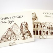 Travel  Famous Landmarks Table Number Cards