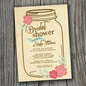 Bridal Shower Invitation - Rustic, Vintage