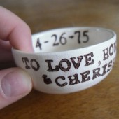 To love honor and cherish ring dish