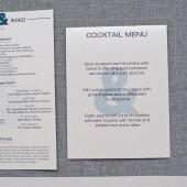 Ampersand Small Menu  - Jessica and Imad