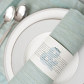 Ampersand Napkin Ring Menu  - Jessica and Imad
