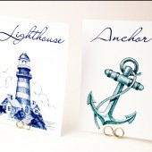 Beach/Seaside Wedding Table Cards
