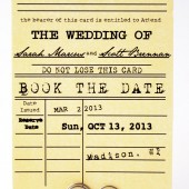 Book the Date - Library theme Save the Date