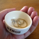 wedding ring ceremony dish