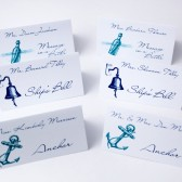 Nautical Wedding Escort Cards