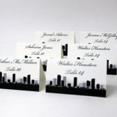 City Skyline Table Number Cards