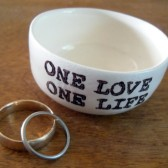 one love one life handmade ring holder