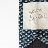 Embroidered Tie Message