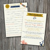 Mad Lib Bridal Shower Game AND Invitation - Nautical