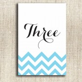 Modern Chevron / Script Table Numbers