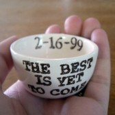 The Best Is Yet To Come ring holder