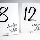 Retro Script Table Number Card
