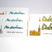 Cities of the World Travel Escort Cards