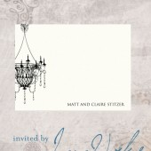 Chandelier Wedding Thank You Cards - Names - Victoria and Cameron