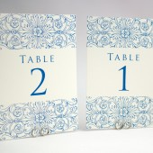 Floral Border Custom Table Numbers